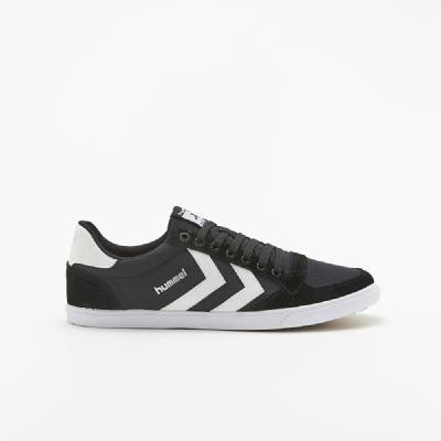 hummel-LIFESTYLE<br>SL STADIL CANVAS LOW BLACK/WHITE