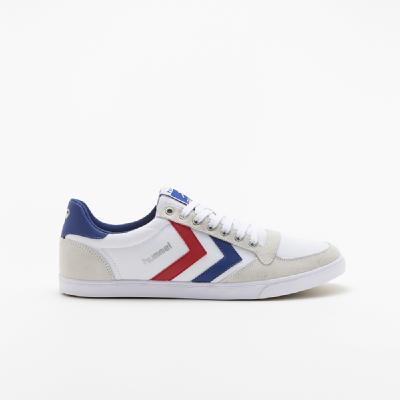 hummel-LIFESTYLE<br>SL STADIL CANVAS LOW WHITE/ RED/BLUE