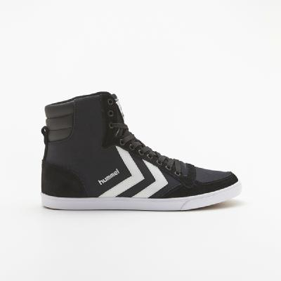 hummel-LIFESTYLE<br>SL STADIL CANVAS HIGH BLACK/WHITE