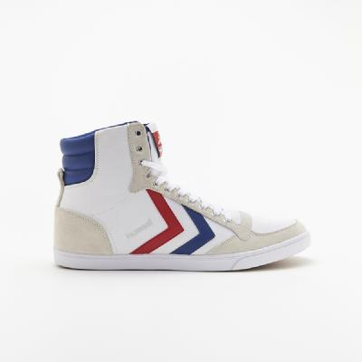 hummel-LIFESTYLE<br>SL STADIL CANVAS HIGH WHITE/ RED/BLUE