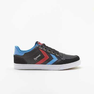 hummel-LIFESTYLE<br>STADIL LOW BLACK/BLUE/RED