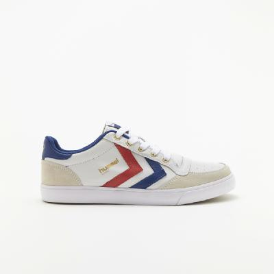 hummel-LIFESTYLE<br>STADIL LOW WHITE/BLUE/RED