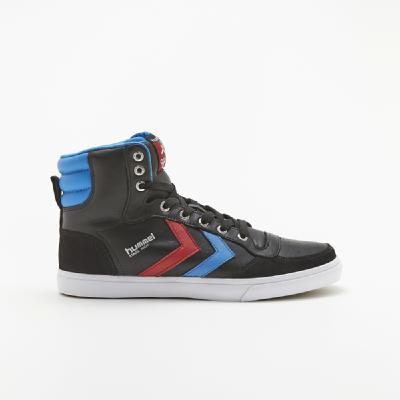 hummel-LIFESTYLE<br>STADIL HIGH BLACK/ BLUE/RED