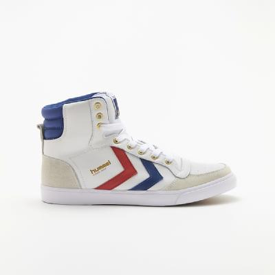 hummel-LIFESTYLE<br>STADIL HIGH WHITE/ BLUE/RED